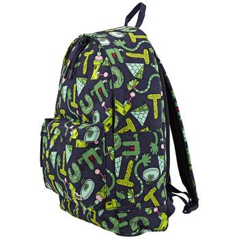 라코스테 X 제레미빌 콜라보 백팩 Lacoste Mens Jeremyville Printed Canvas Backpack
