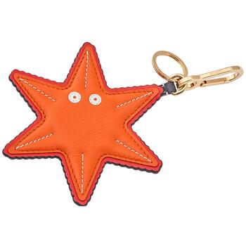로에베 LOEWE Mens Starfish Charm in Orange