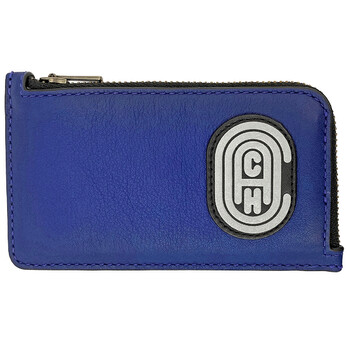 L-zip Card Case With Reflective 코치 COACH Patch