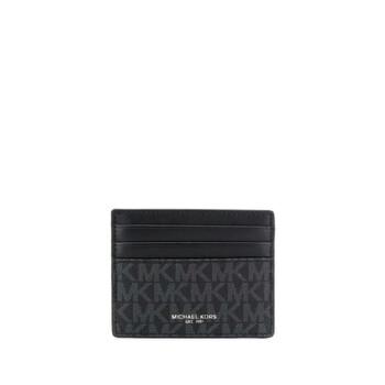 Michael Kors Mens Greyson Credit Card Case In Black