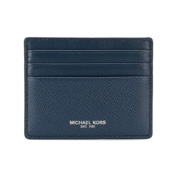 Michael Kors Navy Mens Harrison Leather Tall Card Case