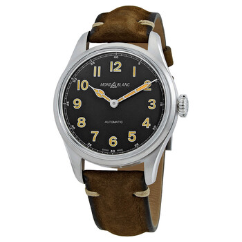 몽블랑 Montblanc 1858 Collection Automatic Black Dial Mens Watch 119907