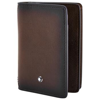 몽블랑 마이스터스튁 카드지갑 Montblanc Meisterstueck Leather Business Card Holder- Brown