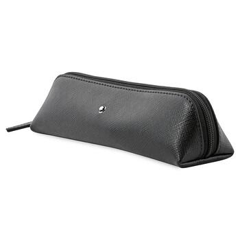 몽블랑 펜 파우치 Montblanc Sartorial Black Leather 2 Pen Pouch Zip Top 116766