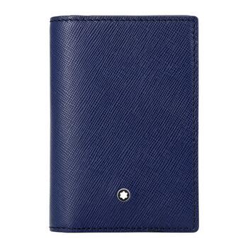 몽블랑 사토리얼 비즈니스 카드지갑 Montblanc Sartorial Leather Business Card Holder - Indigo
