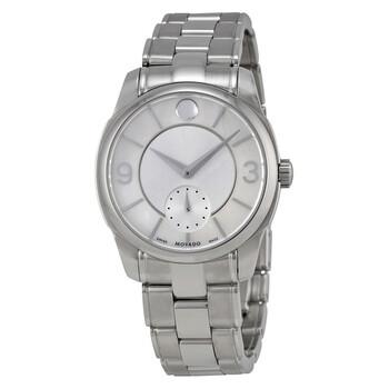 모바도 시계 Movado LX Silver Dial Stainless Steel Ladies Watch 0606618