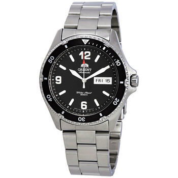 오리엔트 남성 시계 Orient Mako II Automatic Black Dial Mens Watch FAA02001B9