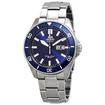 오리엔트 오토메틱 시계 Orient Kanno Automatic Blue Dial Mens Watch RAAA0009L19B