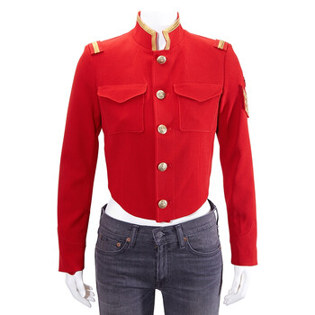 Polo Ralph Lauren Ladies Red Military Style Jacket, Brand Size 6
