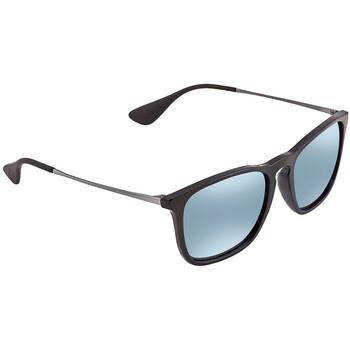 레이밴 스퀘어 선글라스  Ray Ban Chris Silver Mirror Square Mens Sunglasses RB4187F 601/30 54