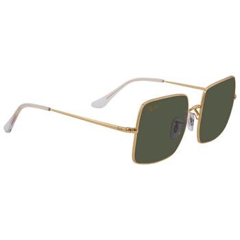 레이밴 스퀘어 선글라스  Ray Ban Green Classic Square Legend Gold 54 mm Sunglasses RB1971 919631 54