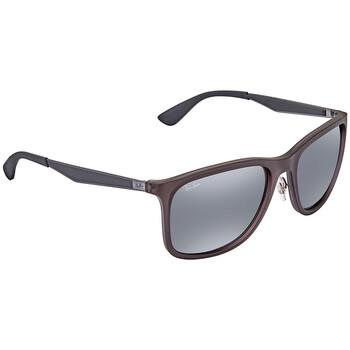 레이밴 스퀘어 선글라스  Ray Ban Grey Gradient Mirror Square Sunglasses RB4313 637988 58