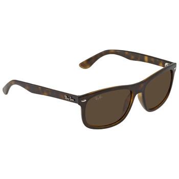 레이밴 스퀘어 선글라스  Ray Ban Mens Shiny Havana Square Sunglasses RB4226 710/73 56