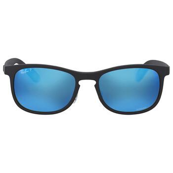 레이밴 스퀘어 선글라스  Ray Ban Polarized Blue Mirror Square Sunglasses