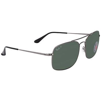 레이밴 스퀘어 선글라스 Ray Ban Polarized Green Classic G-15 Square Unisex Sunglasses RB3611 029/O9 60