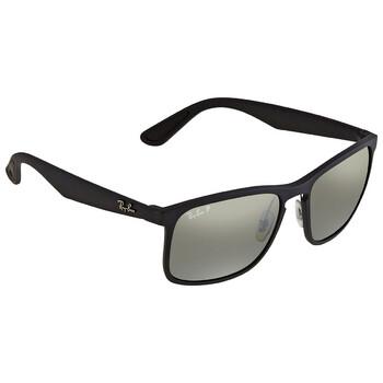 레이밴 스퀘어 선글라스 Ray Ban Polarized Silver Mirror Square Sunglasses RB4264601S5J58