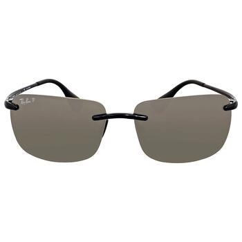 레이밴 스퀘어 선글라스 Ray Ban Polarized Silver Square Sunglasses