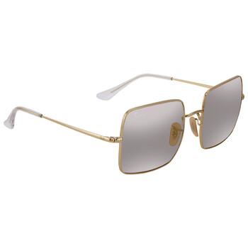 레이밴 스퀘어 선글라스 Ray Ban Shiny Gold Square Sunglasses RB1971 001/B3 54