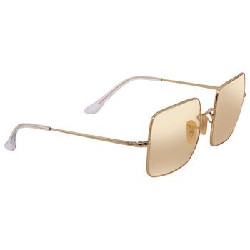 레이밴 스퀘어 선글라스 Ray Ban Shiny Gold Square Sunglasses RB1971 001/B4 54