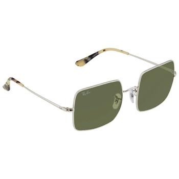 레이밴 스퀘어 선글라스 Ray Ban Square 1971 Classic Ladies Light Green Square Sunglasses RB1971 91974E 54