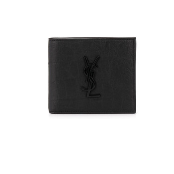 생 로랑 반지갑 Saint Laurent Wrinkled-effect Bi-fold Wallet