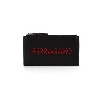 페라가모 Salvatore Ferragamo Black Logo Pouch