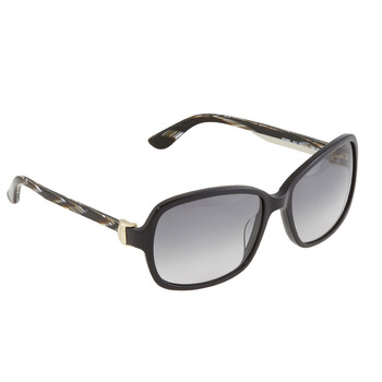 Deals on Salvatore Ferragamo Grey Gradient Rectangular Ladies Sunglasses