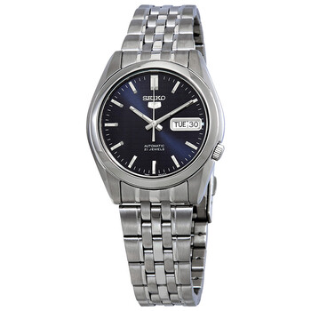 세이코 오토메틱 시계 Seiko 5 Automatic Blue Dial Mens Watch SNK357