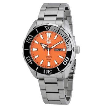 세이코 5 오토메틱 남성 시계 Seiko 5 Automatic Orange Dial Mens Watch SRPC55J1