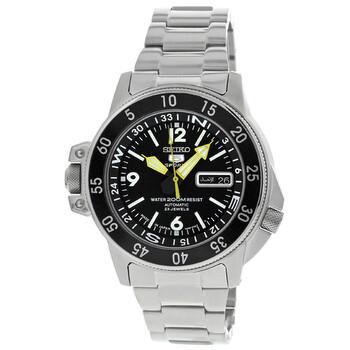 세이코 시계 Seiko 5 Compass Automatic Black Dial Mens Watch SKZ211J1