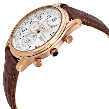 세이코 시계 Seiko Chronograph Alarm Quartz White Dial Mens Watch SPC256P1
