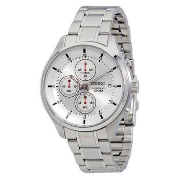 세이코 크로노그래프 남성 시계 Seiko Chronograph Silver Dial Stainless Steel Mens Watch SKS535