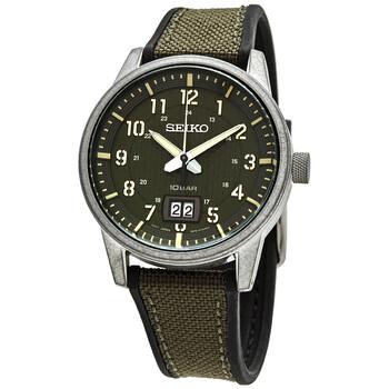 세이코 시계 Seiko Conceptual Quartz Green Dial Mens Watch SUR323