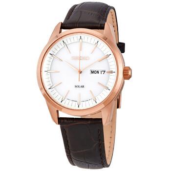 세이코 시계 Seiko Conceptual White Dial Mens Watch SNE530