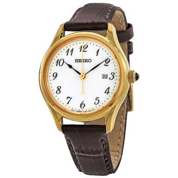 세이코 시계 Seiko Neo Classic Quartz White Dial Ladies Watch SUR638