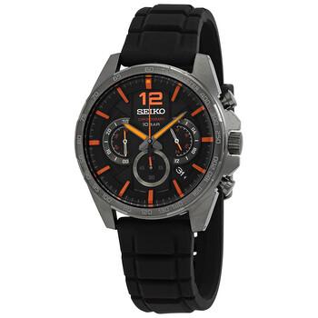 세이코 시계 Seiko Neo Sports Chronograph Quartz Black Dial Watch SSB351P1