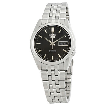 세이코 시계 Seiko Series 5 Automatic Black Dial Mens Watch SNK361