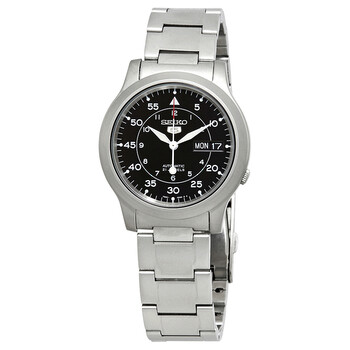 세이코 시계 Seiko Series 5 Automatic Black Dial Mens Watch SNK809K1