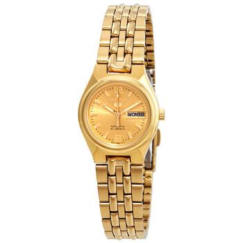 세이코 시계 Seiko Series 5 Automatic Gold Dial Ladies Watch SYMK36