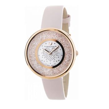 스와로브스키 시계 Swarovski Quartz White Crystal-set Dial Ladies Watch 5376086