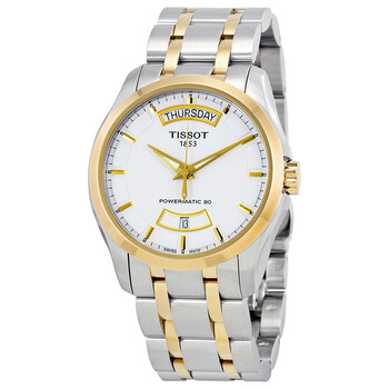 Deals on TISSOT Couturier Powermatic 80 Day-date Automatic Men's Watch