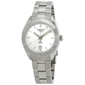 티쏘시계 Tissot PR100 Silver Dial Stainless Steel Ladies Watch T101.910.11.031.00