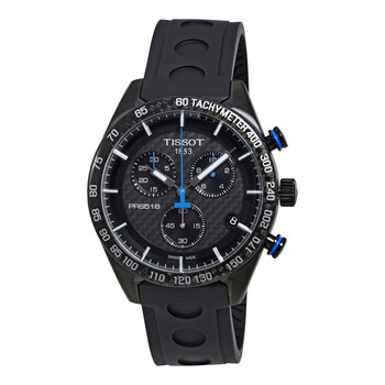 티쏘 시계 Tissot PRS 516 Chronograph Black Carbon Dial Mens Watch T1004173720100