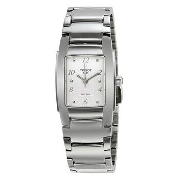 티쏘시계 Tissot T-10 Silver Dial Stainless Steel Ladies Watch T073.310.11.017.00