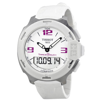 티쏘 남성 시계 Tissot T-Race Analog Digital White Rubber Unisex Watch T0814201701700