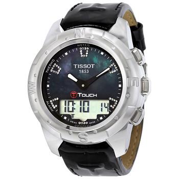 티쏘 손목 시계 Tissot T-Touch II Black Mother of Pearl Unisex Watch T0472204612600