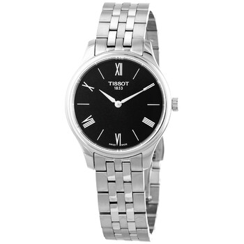 티쏘시계 Tissot Tradition 5.5 Quartz Black Dial Ladies Watch T063.209.11.058.00