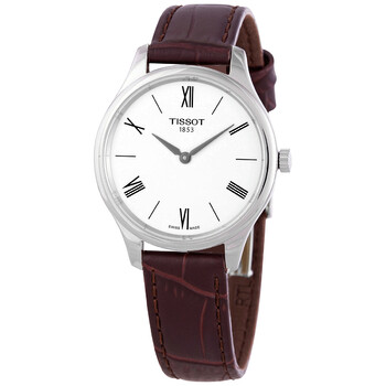 티쏘시계 Tissot Tradition 5.5 Quartz Silver Dial Ladies Watch T063.209.16.038.00