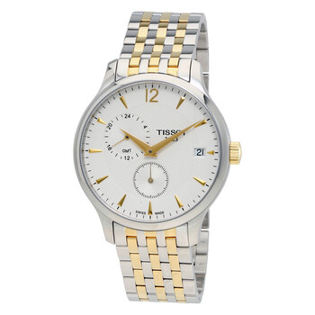 티쏘 남성 시계 Tissot Tradition Silver Dial Two-tone Mens Watch T0636392203700