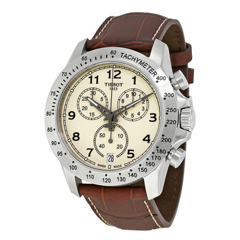 티쏘 남성 시계 Tissot V8 Chronograph Ivory Dial Mens Watch T106.417.16.262.00